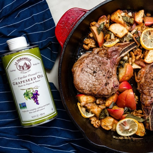 Image ofApple Sage Pork Chops with Grapeseed Oil