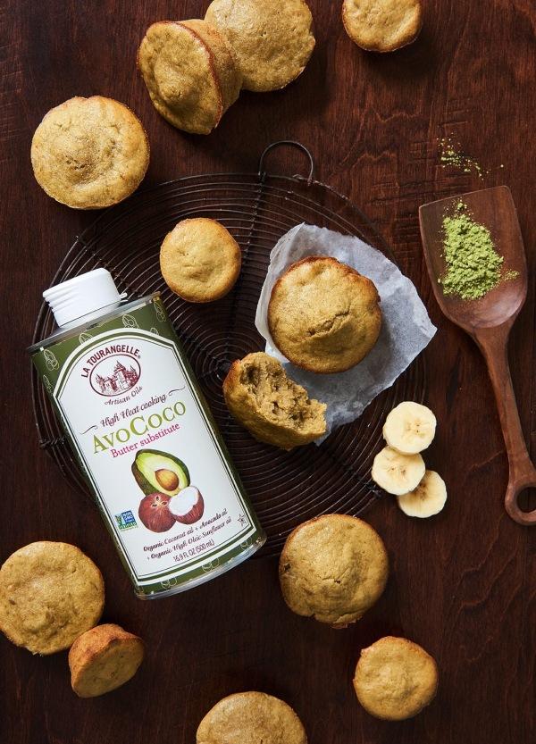 Image ofBanana Matcha Muffins