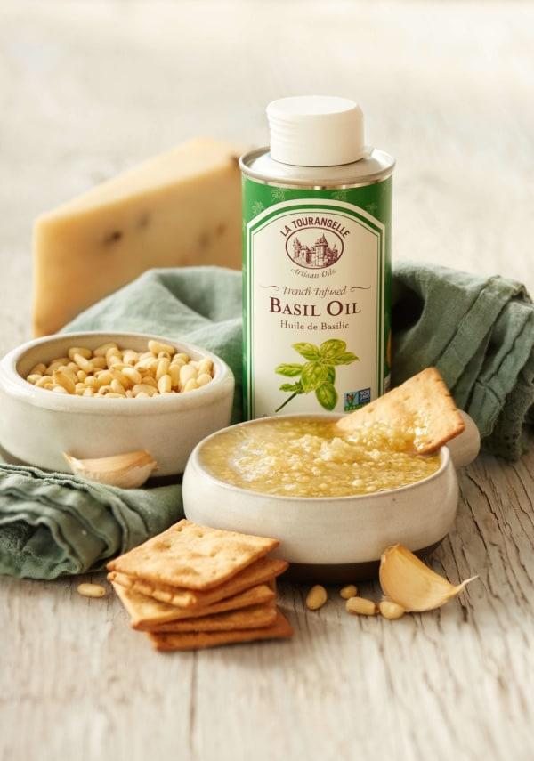 Image ofBasil Infused Oil White Basil Pesto