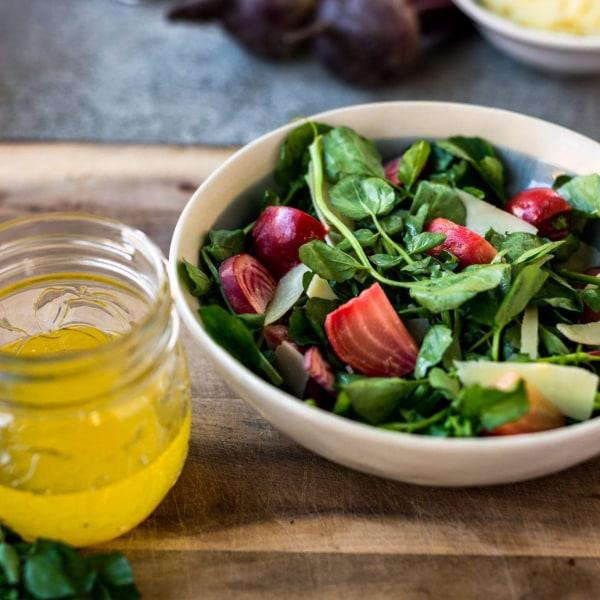 Image ofBeet Salad with Watercress and Fresh Pecorino