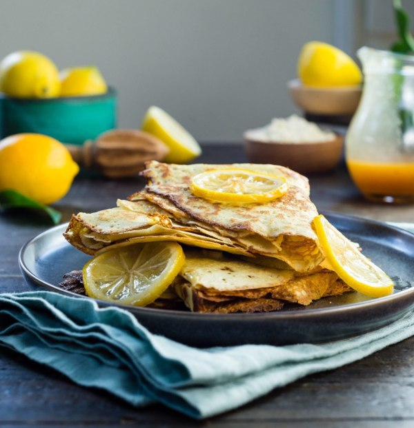 Image ofCrepes au Citron & Floral Citrus Caramel Sauce