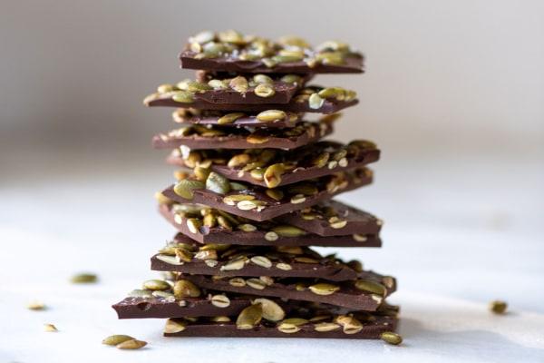 Image ofDark Chocolate Pumpkin Seed Bark