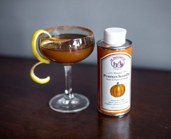 Image ofCon-full Bulleit & Pumpkin Seed Oil Cocktail