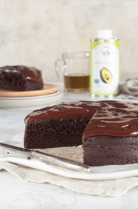 Image ofChocolate Avocado Cake with Silky Whipped Frosting