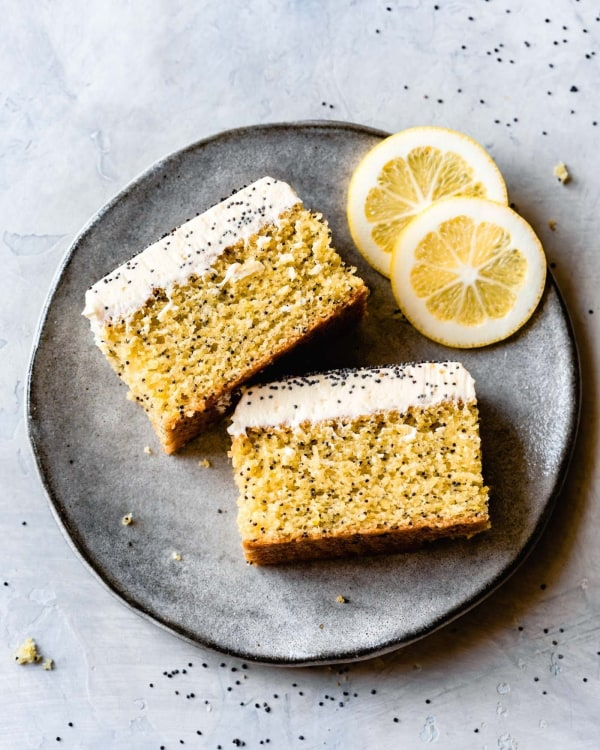 Image ofGluten Free One-Bowl Lemon Poppy Seed Cake With Dreamy Cream Cheese Frosting
