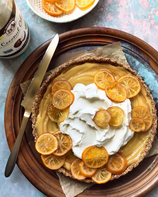 Image ofGluten Free, No Bake Lemon Tart