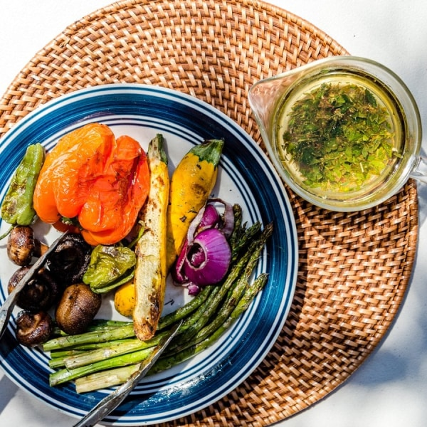 Image ofGrilled Vegetables with Citrus Walnut Sauce