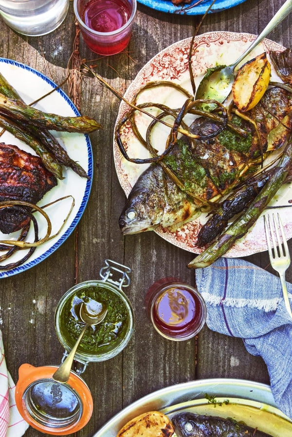 Image ofGrilled Trout & Zippy Green Sauce