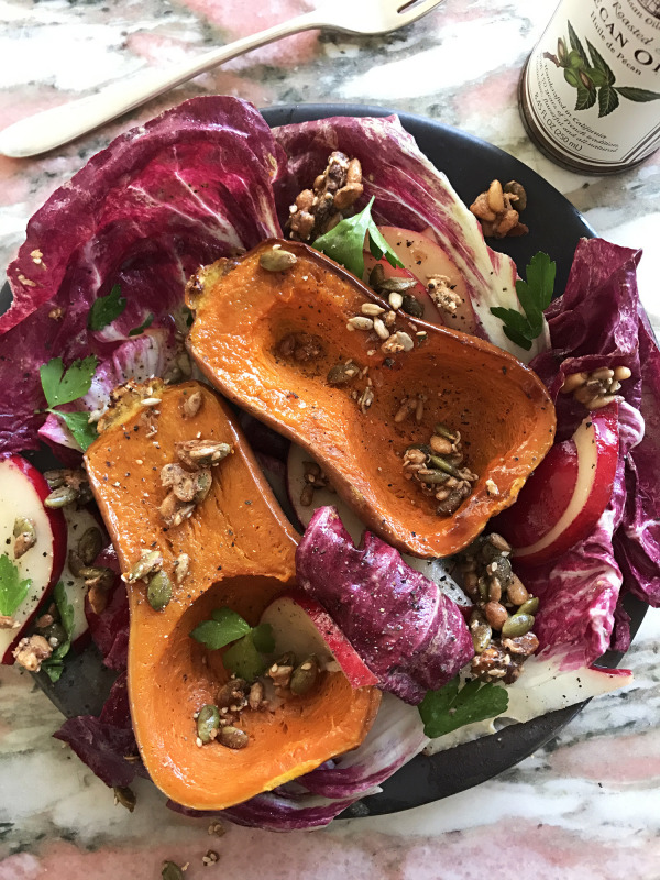 Image ofHoney Nut Squash Radicchio Salad