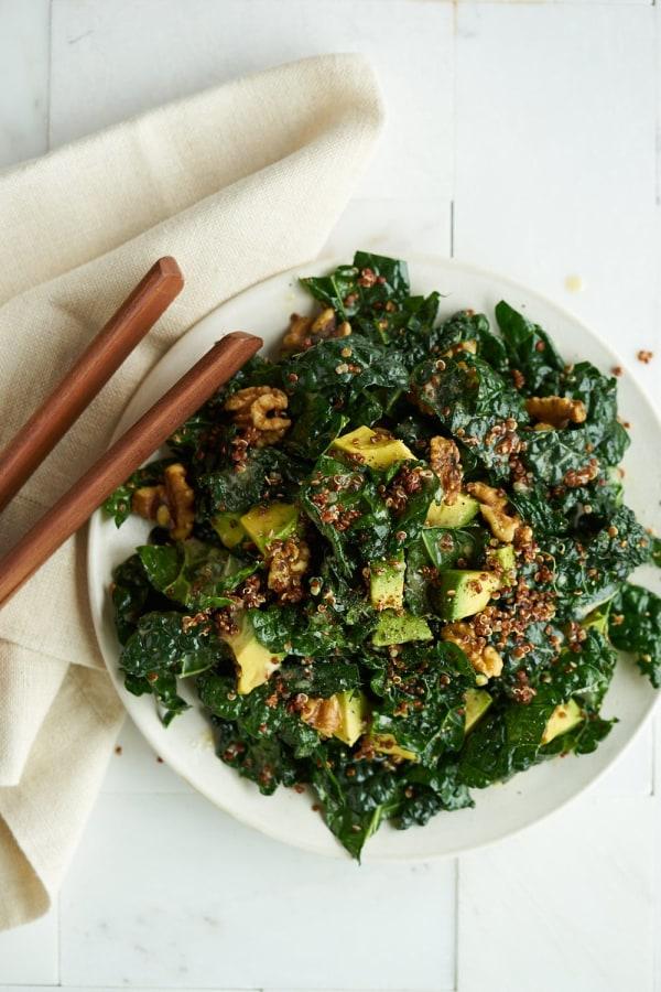 Image ofKale, Quinoa, Avocado & Walnut Salad