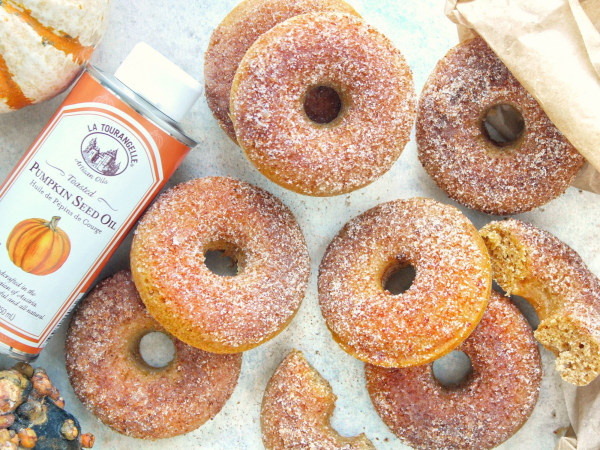 Image ofPumpkin Spice Donuts with Cinnamon Sugar Topping
