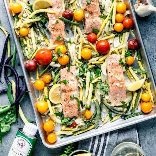 Image ofRoasted Salmon Sheet Pan Dinner