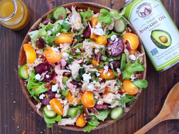 Image ofShredded Chicken Salad with Honey Citrus Vinaigrette