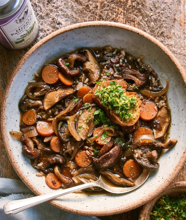 Image ofSoothing Broth with Mushrooms and Wild Rice