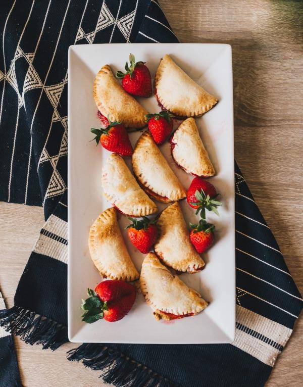 Image ofStrawberry Rhubarb Pie Bites - Coconut Oil