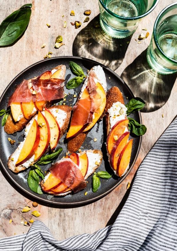 Image ofStone Fruit Basil Canapès