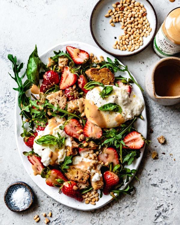 Image ofStrawberry Caprese Panzanella Salad