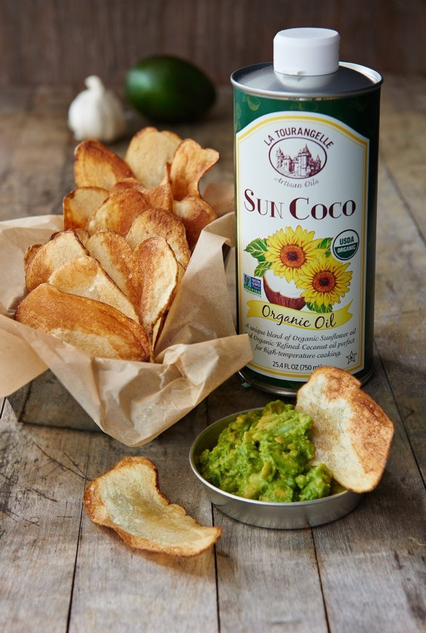Image ofSun Coco Potato Chips with Avocado Mash