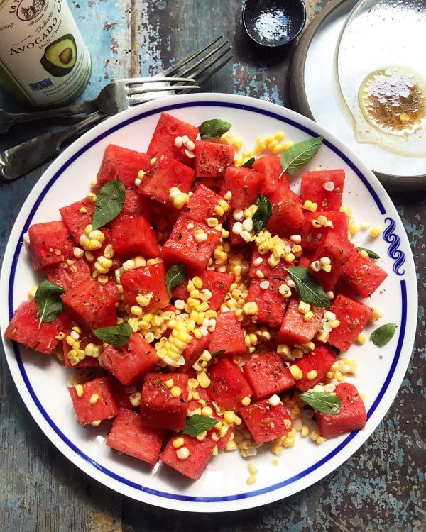 Image ofSummer Corn & Watermelon Salad with Avocado Oil Vinaigrette