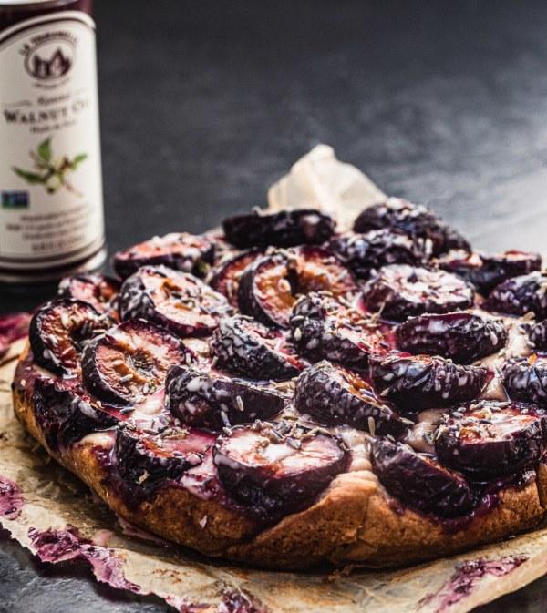 Image ofWalnut, Plum & Lavender Cake