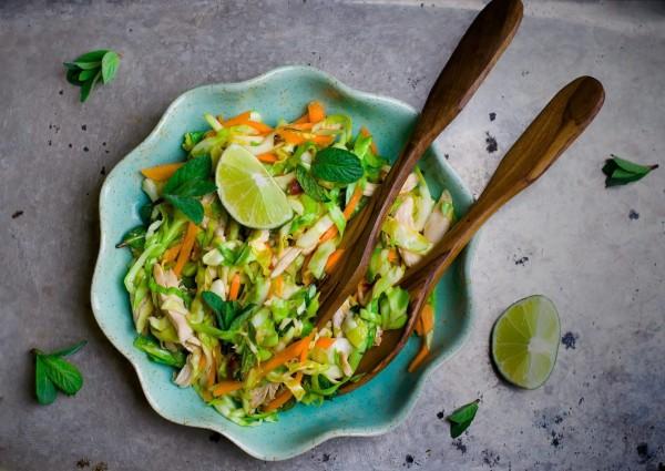 Image ofToasted Sesame Oil, Orange and Lime Vinaigrette and Salad