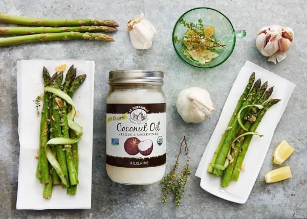 Image ofVirgin Coconut Oil - Garlicky Asparagus
