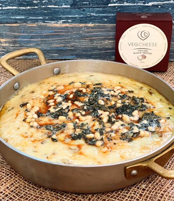 Image of Cheesy Truffle Mashed Potatoes with Sage Butter & Pine Nuts