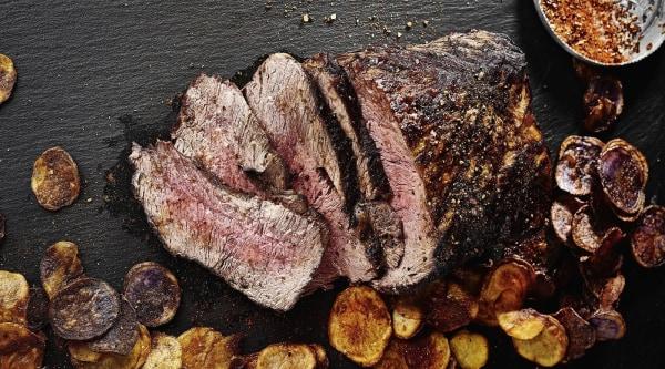 Ofen Roastbeef mit Kartoffelchips Rezept