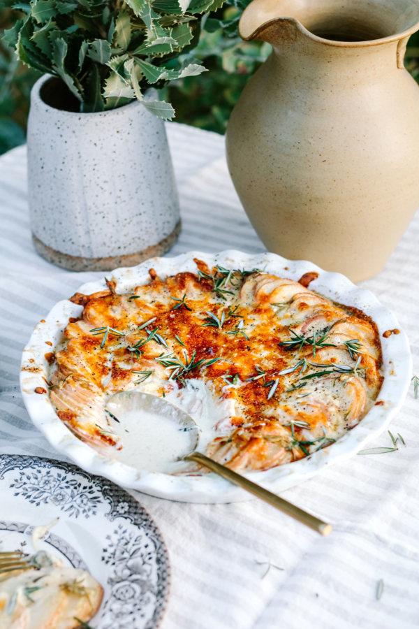 Rosemary and Sage Potato Gratin Recipe