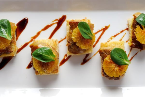 Image ofSeared Foie Gras on Toasted Brioche with Caramelized Orange