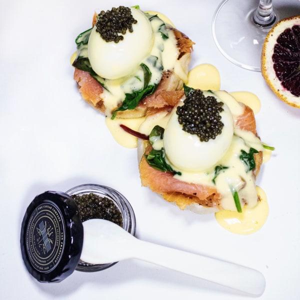 Image ofSmoked Salmon Caviar Benedict
