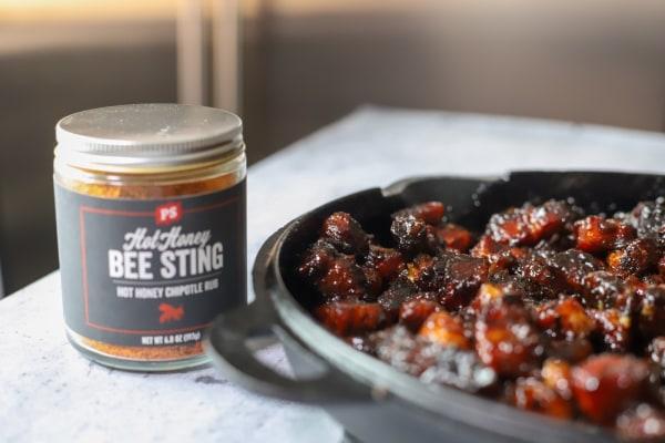 Image of Bee Sting Pork Belly Burnt Ends