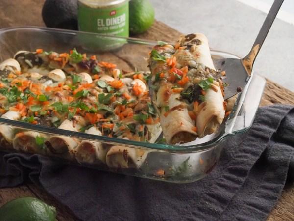 Image of Salsa Verde Hatch Chili Enchiladas