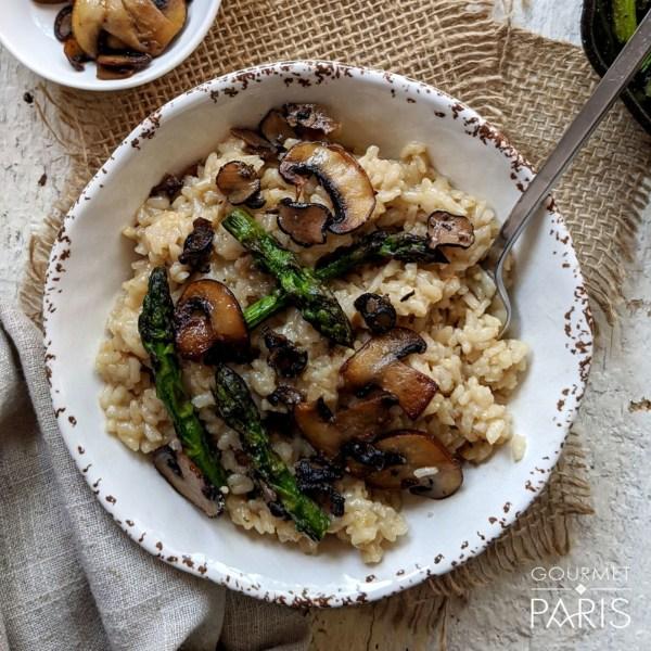 Image ofTruffle, Mushroom & Asparagus risotto