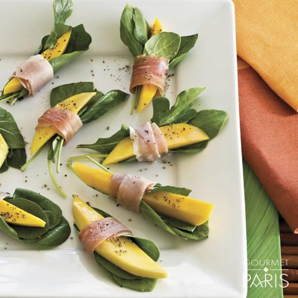 Image ofBayonne Ham-Wrapped Mango Bites