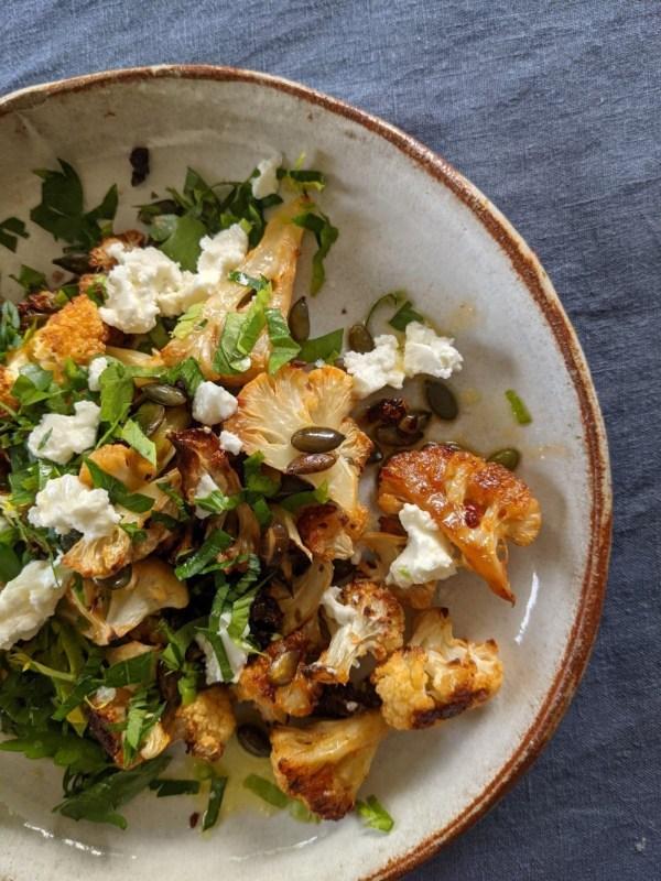 Image of Our Honey Spiked Hearty Harissa  Roast Cauliflower Salad.