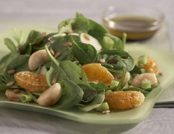 Image of Tangerine Mangosteen and Baby Spinach Salad