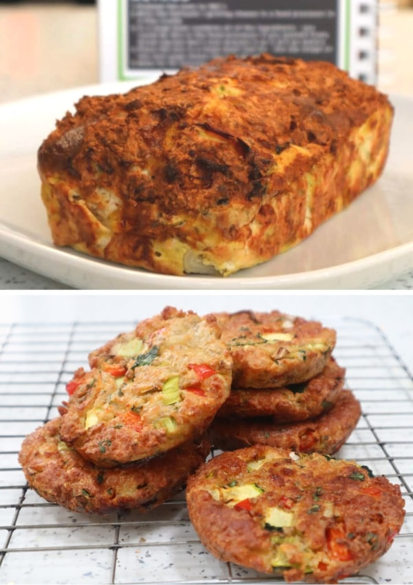 Image of Cheese-Loaf & Burgers (Homemade Veggie Burgers)
