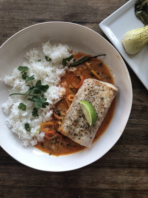 Image ofCosta Rican Mahi with Thai Coconut Curry