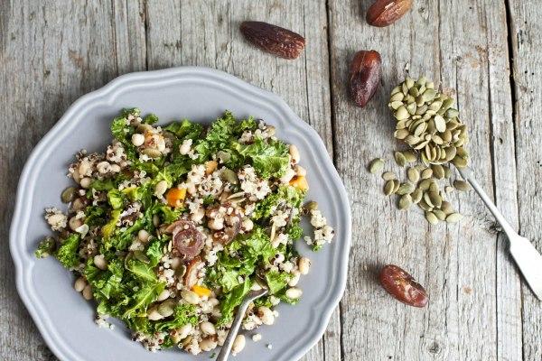 Image ofQuinoa, Navy Bean and Kale Salad