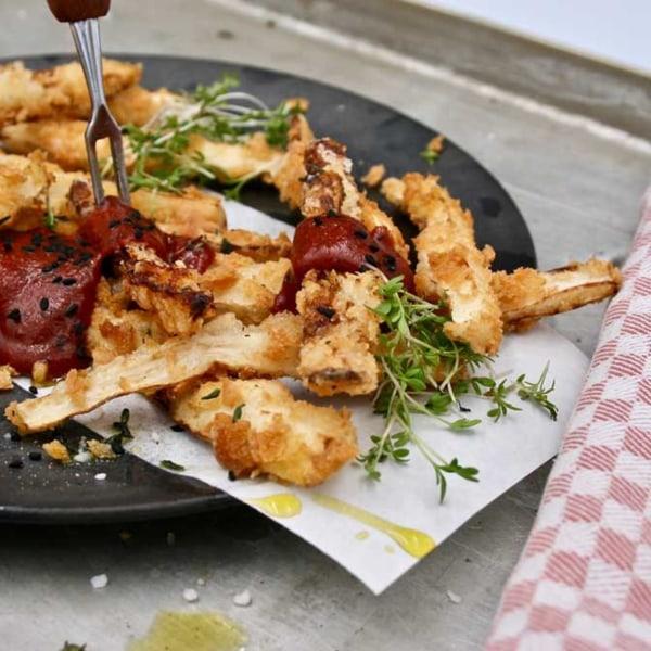 Image of Spargelrezepte - Toppings für Spargel und Gemüse. Spargel-Fritten mit Moroc'n'Roll