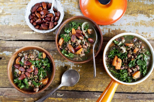 Image ofGreen Lentil and Bean Soup with Kale