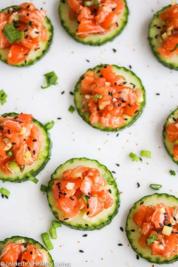 Image ofSalmon Tartare Cucumber Bites