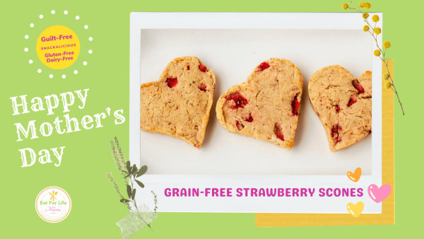 Image ofFresh Strawberry Scones - Grain-Free