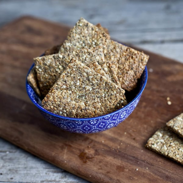Image ofFlax and Chia Seed Crackers