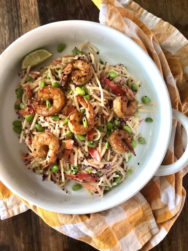 Image ofMiso Lime Shrimp Soba Noodle Salad