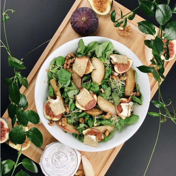 Image ofSpring Salad With Pears, Figs and Camembert