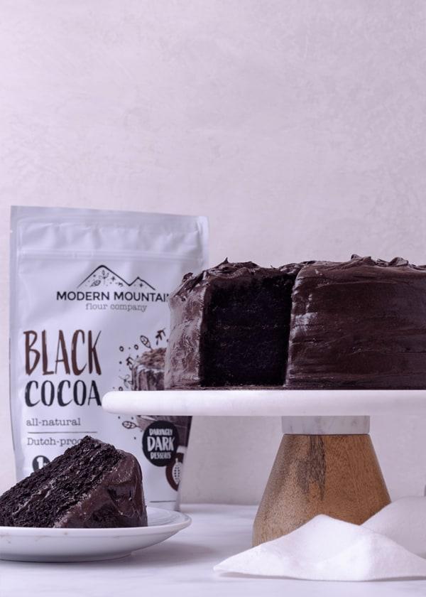 Image of Black Cocoa Cake