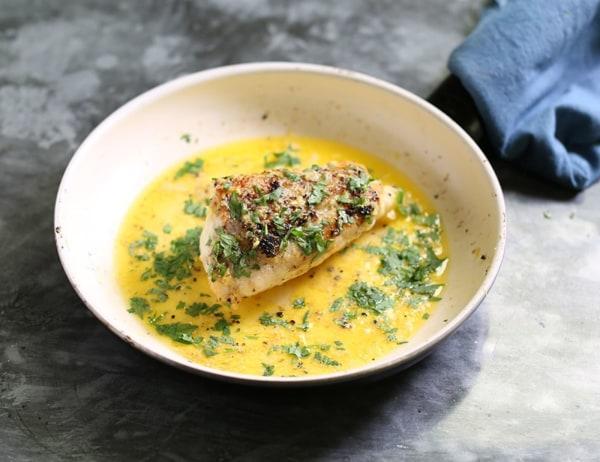 Image ofRoast Monkfish with Lemon & Parsley Butter