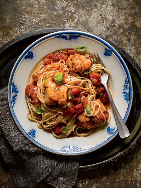 Image ofMonkfish Fra Diavolo with Spaghetti